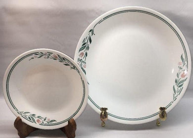 d6b5b91ac03 CORELLE by CORNING Rosemarie Dinner Plate Bread Plate Set 2 Pieces P1