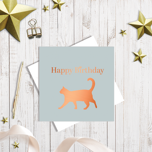 Cat Lovers Happy Birthday Card