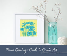Frame greetings cards to create art