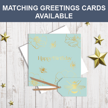 Matching gift tags and greetings cards available