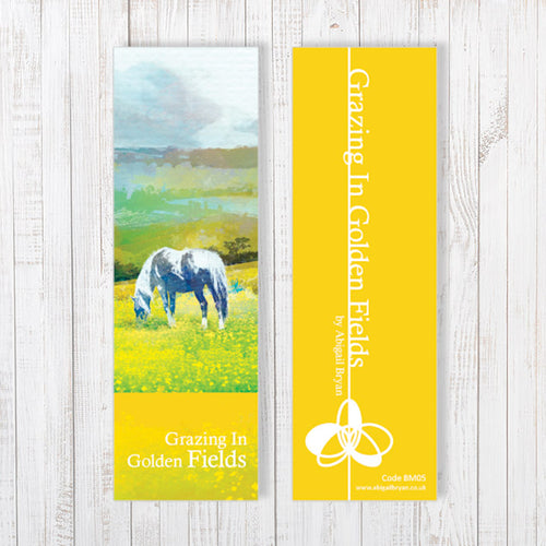 Grazing In Golden Fields Bookmark by Abigail Bryan
