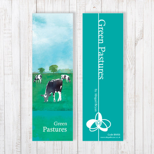 Green Pastures Bookmark by Abigail Bryan