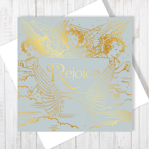Christmas Angels Christmas Card with gold foiling by Abigail Bryan