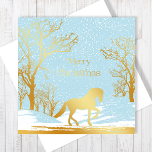 Majesty Christmas Card with gold foiling by Abigail Bryan