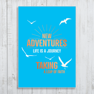 New Adventures with copper foiling A4 Poster