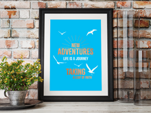 New Adventures with copper foiling A4 Poster framed
