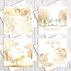 White & Gold Christmas Card Collection