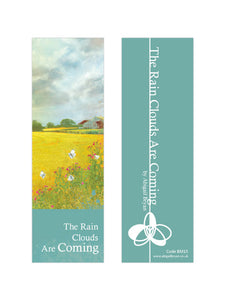 The Rain Clouds Are Coming - Luxury Bookmark by Abigail Bryan