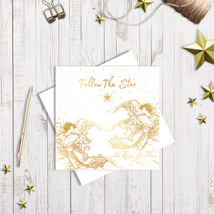 The Christmas Star Christmas Card with gold foiling by Abigail Bryan
