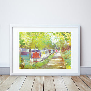 A Morning Walk II Framed Print by Abigail Bryan