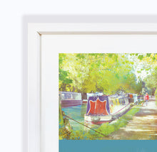 A Morning Walk, Audlem Canal - Framed print by Abigail Bryan