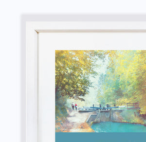 A New Season Begins, Audlem Canal in Cheshire Framed Print by Abigail Bryan