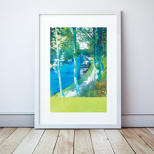 Along The Towpath II Framed Print by Abigail Bryan