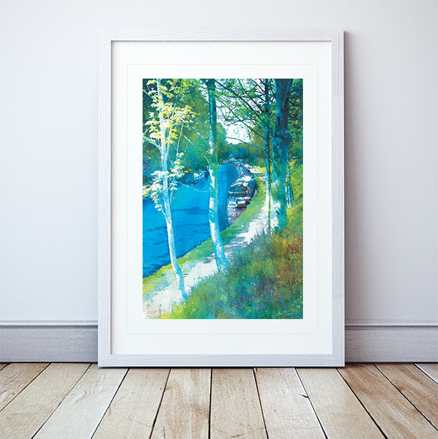 Along The Towpath Framed Print by Abigail Bryan