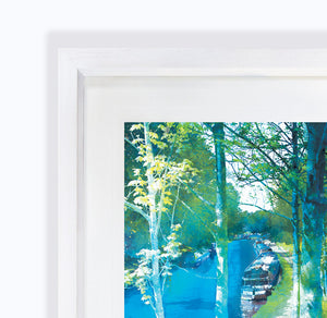 Along The Towpath, Audlem Canal in Cheshire Framed Print by Abigail Bryan