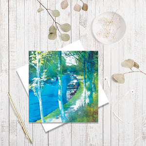 Along The Towpath greetings card by Abigail Bryan