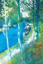 Along The Towpath, Audlem Canal in Cheshire by Abigail Bryan