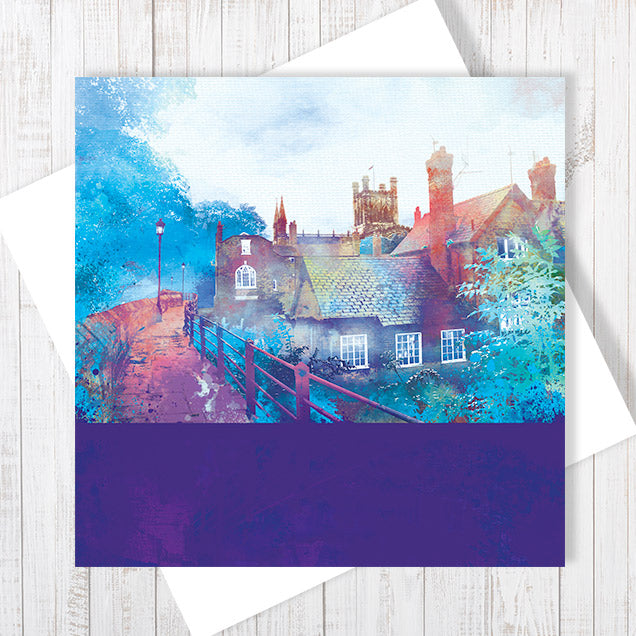 City Walls, Chester - Greetings Card by Abigail Bryan