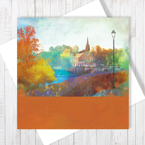 City Walls, River View, Chester - Greetings Card by Abigail Bryan