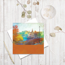 City Walls, River View, Chester greetings card by Abigail Bryan