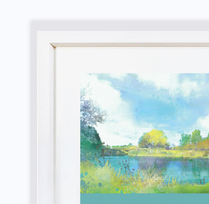 Contemplation, The River Weaver in Nantwich Framed Print by Abigail Bryan