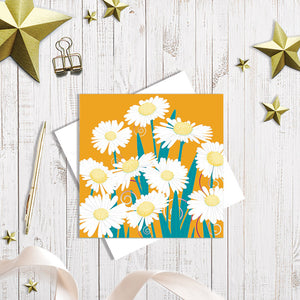 Daisy Dance greetings card by Abigail Bryan