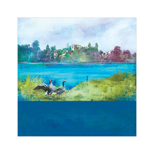 Ellesmere, Shropshire - Greetings Card by Abigail Bryan