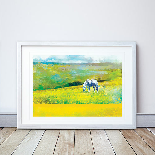 Grazing In Golden Fields Framed Print by Abigail Bryan