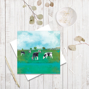 Green Pastures greetings card by Abigail Bryan