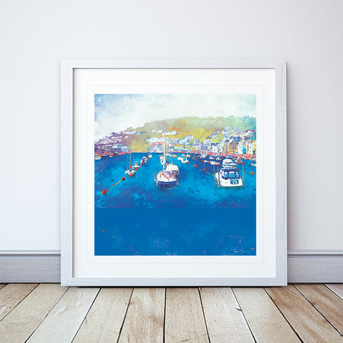 Harbour Rest, Cornwall Framed Print by Abigail Bryan