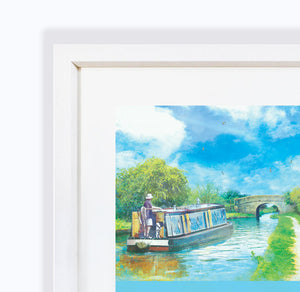Journey Of Hope, Audlem Canal in Cheshire, Framed Print by Abigail Bryan
