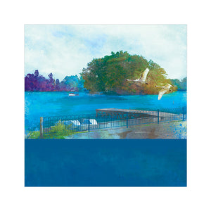 Moscow Island, Ellesmere - Greetings Card by Abigail Bryan