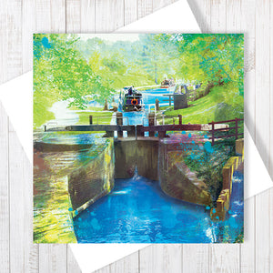 Navigating Through Gates - Greetings Card by Abigail Bryan