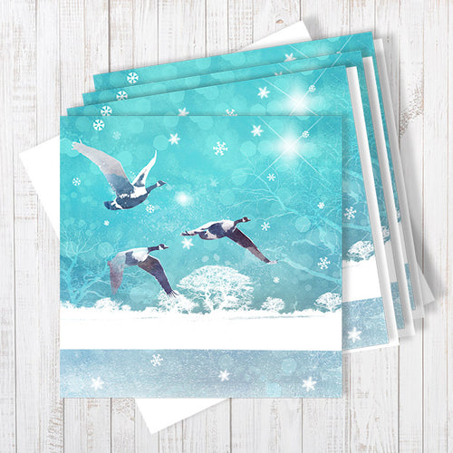 Christmas Promises, Pack Of 4 Christmas Greetings Cards By Abigail Bryan