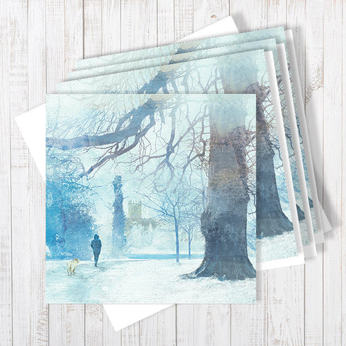 Heading Home, Ellesmere Pack Of 4 Greetings Cards By Abigail Bryan