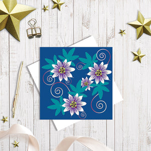 Passion Flower greetings card by Abigail Bryan