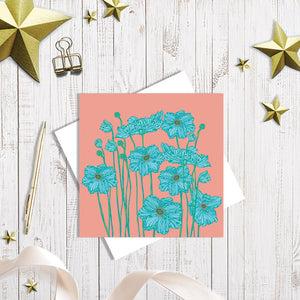 Peony Garden greetings card by Abigail Bryan