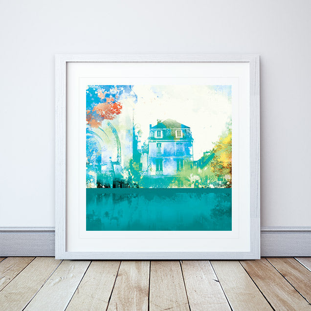 Place De L'eglise Framed Print by Abigail Bryan