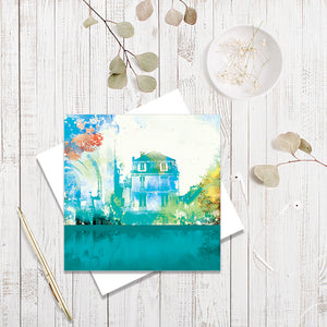 Place De L'eglise greetings card by Abigail Bryan