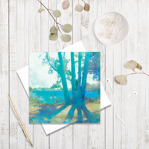 Planted By Deep Waters greetings card by Abigail Bryan