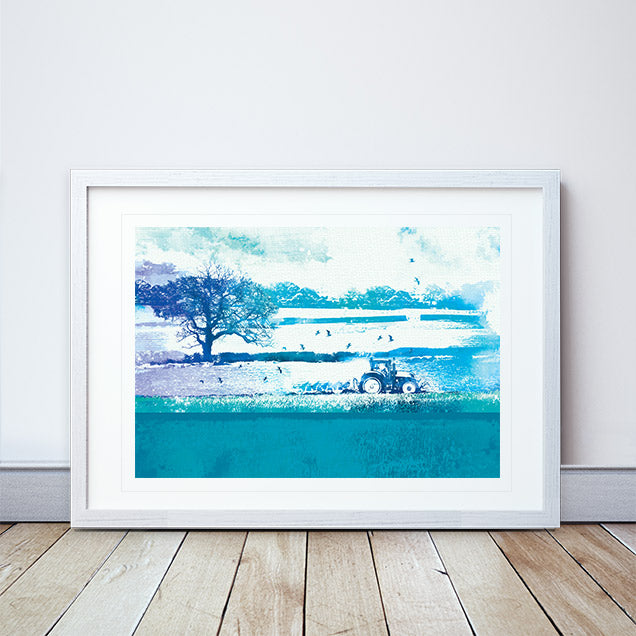 Ploughing The Ground Framed Print by Abigail Bryan