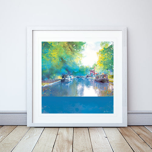 Reflective Moorings Framed Print by Abigail Bryan