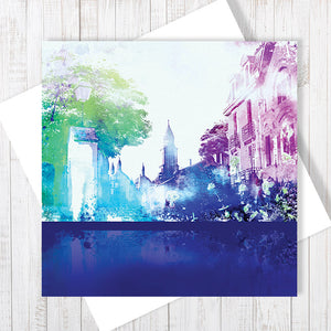 Rue Des Drapeaux - Greetings Card by Abigail Bryan