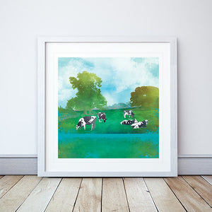 Summer Grazing Framed Print by Abigail Bryan