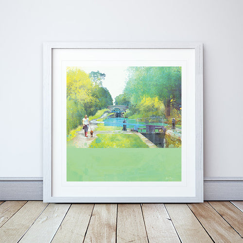 The Path Of Summer Framed Print by Abigail Bryan