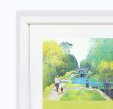 The Path Of Summer II, Audlem Canal in Cheshire, Framed Print by Abigail Bryan