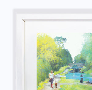 The Path Of Summer III, Audlem Canal in Cheshire, Framed Print by Abigail Bryan