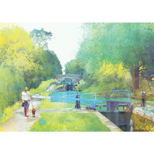 The Path Of Summer III, Audlem Canal in Cheshire by Abigail Bryan