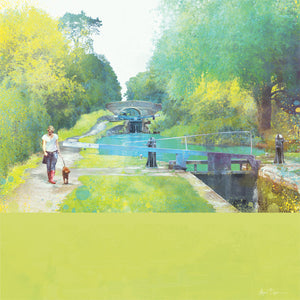 The Path Of Summer II, Audlem Canal in Cheshire by Abigail Bryan
