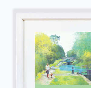 The Path Of Summer, Audlem Canal in Cheshire, Framed Print by Abigail Bryan